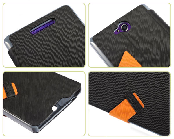 Baseus Faith Series Durable PU Leather and Plastic Case with Stand and Card Slot Function for Sony Xperia C S39h