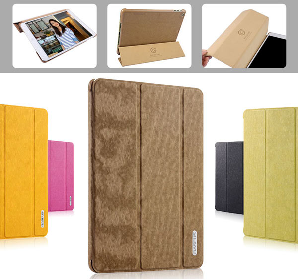 Baseus Cool Soft Style Artificial Leather and Plastic Material Foldable Stand Case for iPad Air