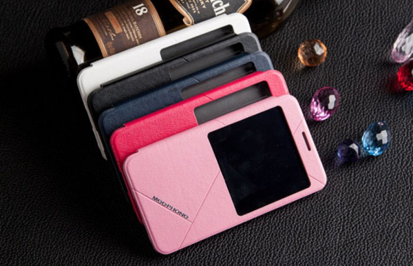 Classical Series Phone Call View Window Design PU Leather + PC Cover Case for Samsung Galaxy Note 3 N9000 / N9002 / N9006 / N9008
