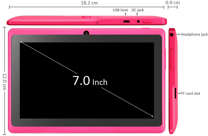 Android 4 2 IPPO Q8H All Winner A23 Dual Core 1 5GHz with 7 inch WVGA  Screen 4GB ROM