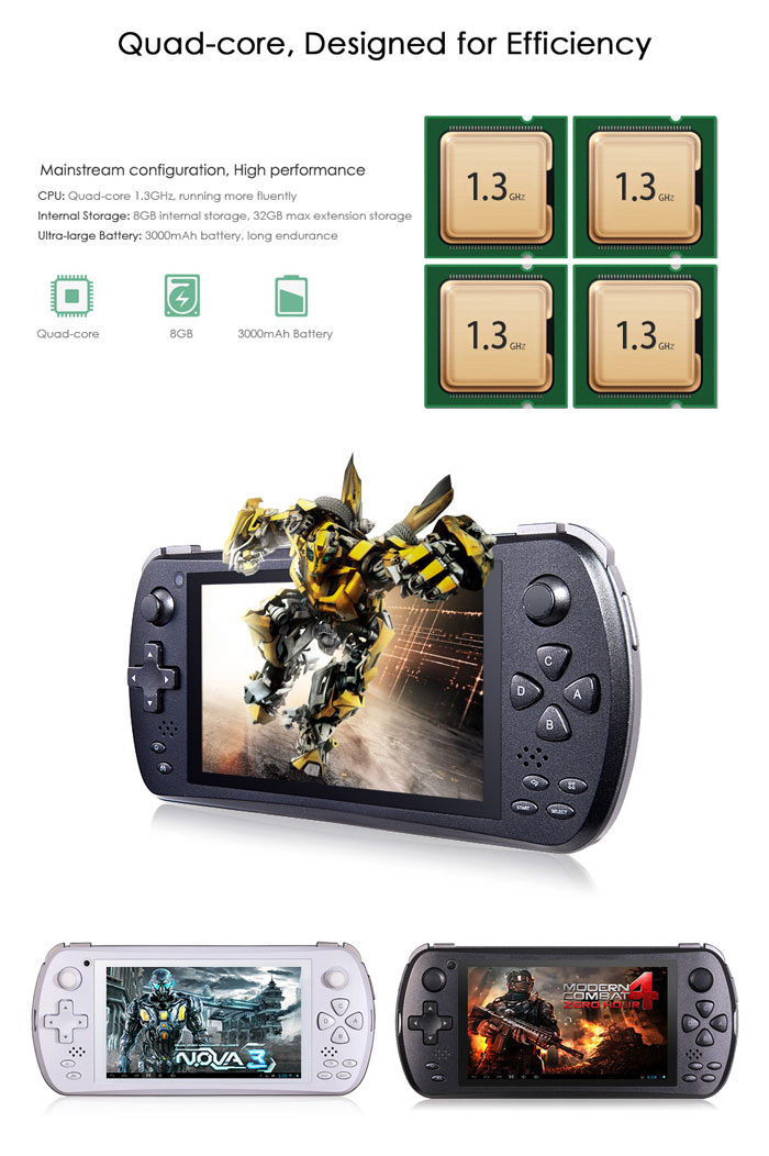 JXD S5800 5 0 inch 3G Smartphone MTK6582 Quad - core 1 3GHz Game Player IPS  Full View Screen Tablet with 8 0MP Camera and GPS