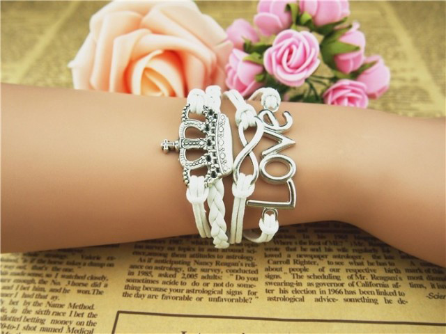 Crown Love Infinity Multilayered Bracelet- as the picture