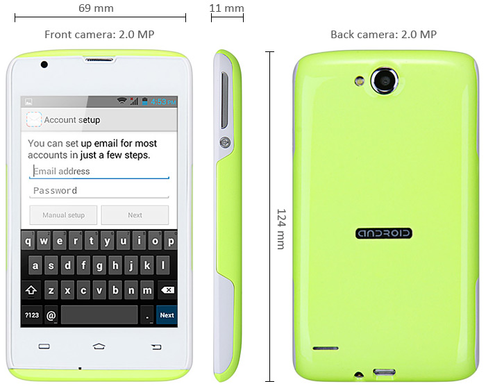 Android 4.2 S11 Smartphone with 4.0 inch HVGA Screen ...