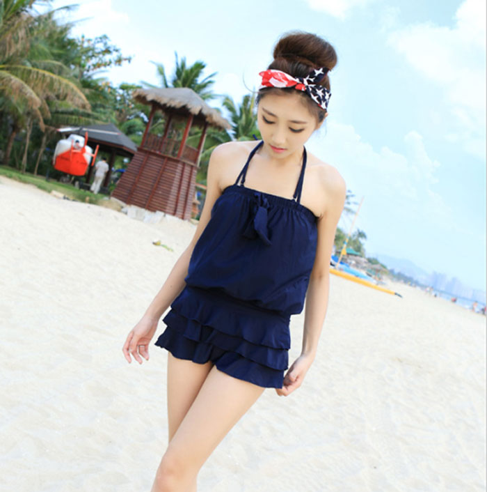 Skirt Design Three-piece Sexy Hot Spring Bathing Suit Swimsuit for Women