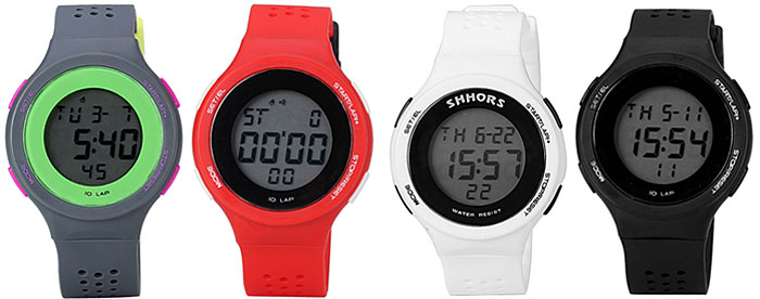 Fashion LED Watch with Digital Indicate Day / Date and Rubber Watchband