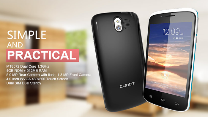 CUBOT GT95 3G Smartphone MTK6572 Dual Core 1 2GHz Android 4 4 4GB ROM With  4 0 inch WVGA Screen