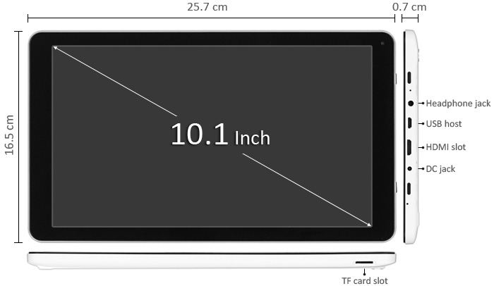 Q102 All Winner A31S Quad Core 1 2GHz with 10 1 inch WSVGA Screen Android  4 4 Tablet PC 16GB ROM