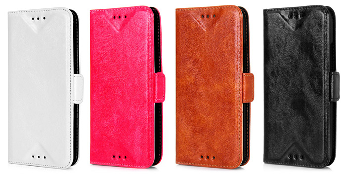 Stylish Oily Sense of Touch PU and PC Material Stand Case with Card Holder for HTC M8 mini