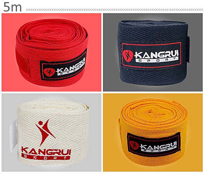 2PCS Cool Pure Cotton Boxing Bandage Practical and Portable with 5 Meters Length -  White
