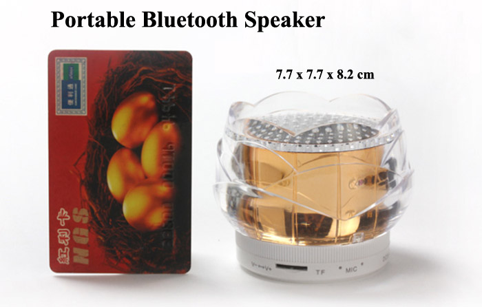 FL-01 Portable Smart Bluetooth Wireless Loud Speaker Support TF Card Input / Voice Reminder for Smartphone / Tablet PC / Laptop etc.