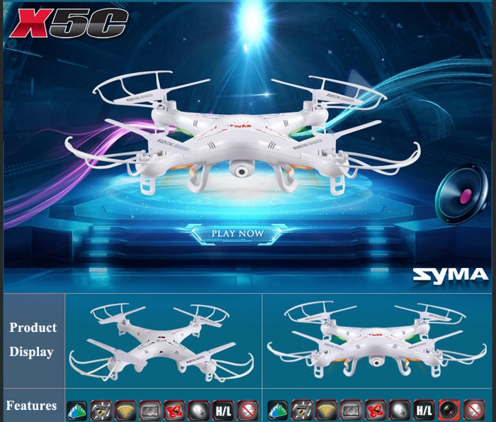 Syma X5C New Version X5C - 1 2.4GHz 4 Channel 6 - Axis Gyro RC Quadcopter