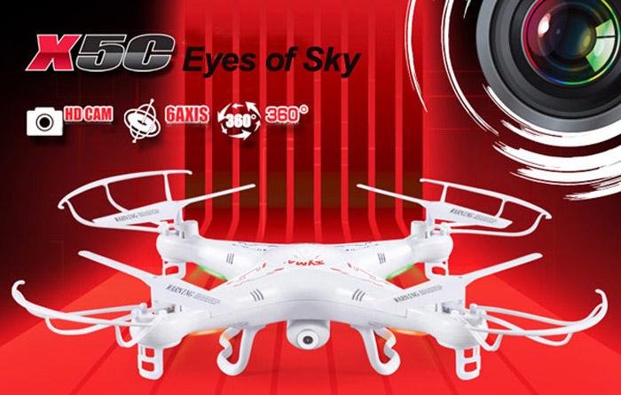 Syma X5C New Version Syma X5C - 1 2.4GHz 4 Channel 6 - Axis Gyro RC Quadcopter BNF