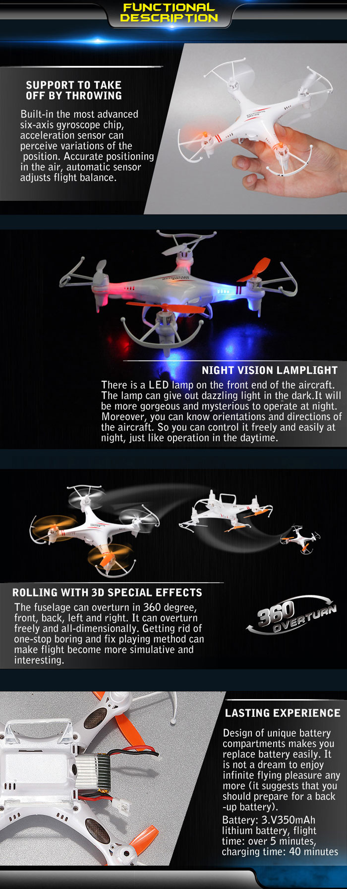 Skytech M62r Quadcopter 4 Channel 6 Axis 24ghz Copter With 03mp Esc Wiring For Furthermore Helicopter Parts Diagram Camera Rc Of Gyro