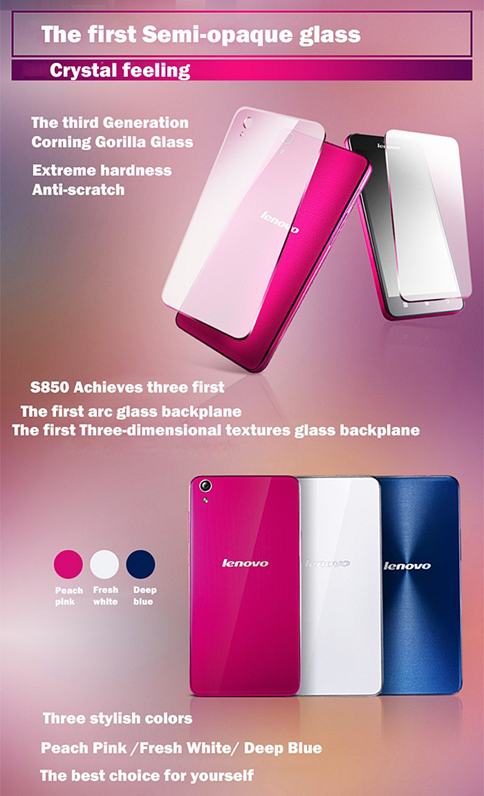 Lenovo S850 50 Inch Android 44 3g Phablet Mtk6582 Quad Core Quadcore Processor Product Size 175 X 10 6 Mm 69 39 02 Inches Package 20 12 5 Cm Weight 0140 Kg 0500