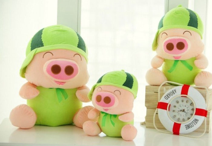 Lovely Grape Mcdull Pig Plush Doll 7 inch Fruit Pig Stuffed Toy