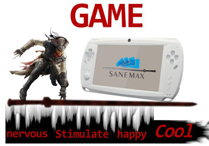 C701 7 0 inch Android 4 0 WiFi PSP Gamepad Built - in Lithium Battery  Support HDMI Output - 512MB RAM 8GB ROM