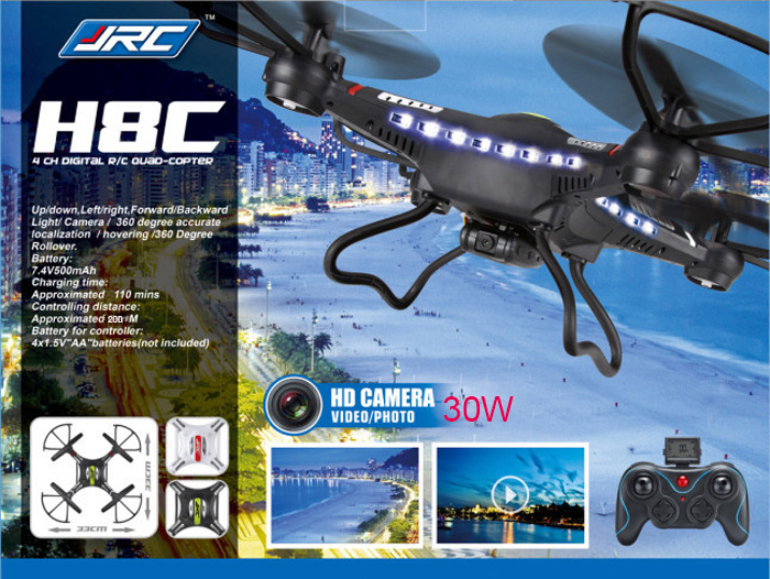 JJRC H8C 2.4GHz Quadcopter with 0.3MP HD Camera Great Gift