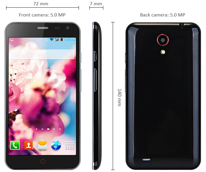 Z5 5.0 inch Android 4.2 3G Smartphone -$76.47 Online ...