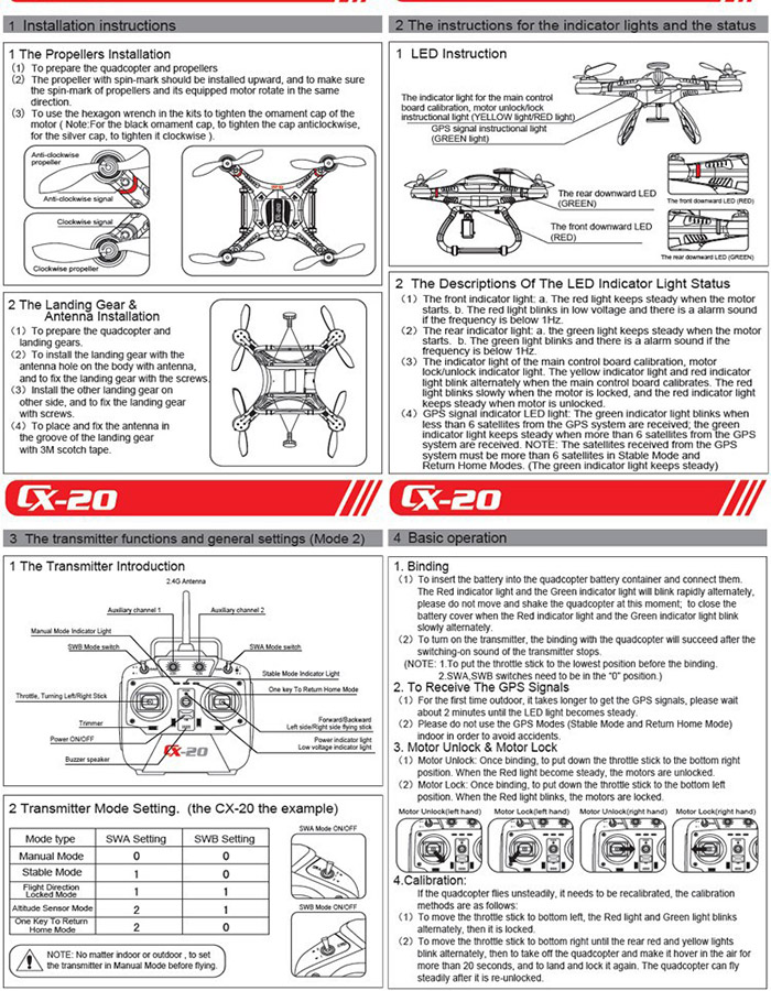 HELP US PLEASE*** Q x7 5 flight modes for Cheerson cx-20 - openrcforums