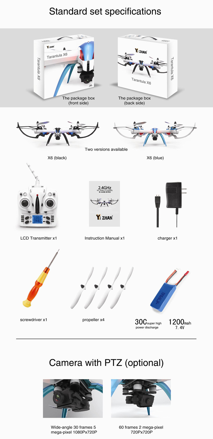 Yizhan Tarantula X6 New Version Yizhan Tarantula X6 - 1 4CH RC Quadcopter with Hyper IOC Function ( No Camera )