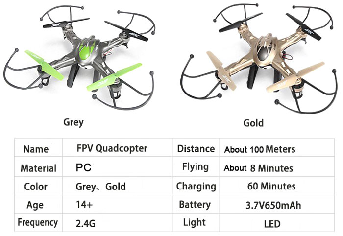 JJRC H9D FPV Real Time Transmission 2.4G 4CH RC Quacopter with 0.3MP Camera