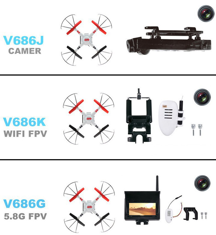 wltoys v686g 5 8g fpv 2 4ghz 4ch auto - pathfinder rc quadcopter with 2 0mp