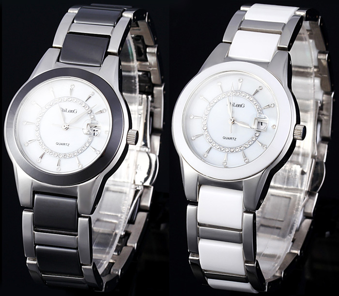 ShiLonG 8055L Shell Face Female Quartz Watch Japan Movt Water Resistant Date Function