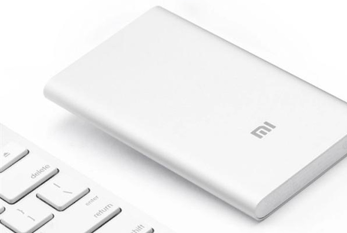 Original Xiaomi 5000mAh Li-Polymer Battery Mobile Power Bank Portable Charger with Power Indicator - Silver