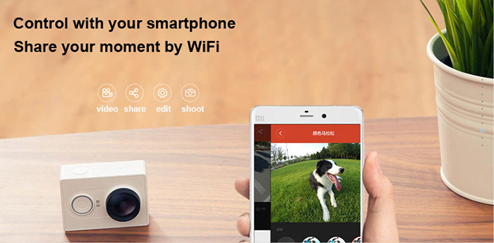 Original XiaoMi Yi 1080P Ambarella A7LS WIFI Sports Action Camera CN Version