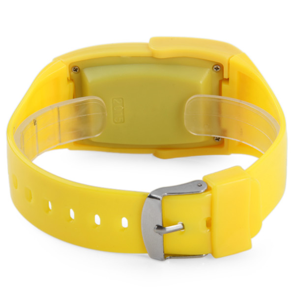 Children Calculator Digital Watch Date Display Rubber Wristband- Yellow