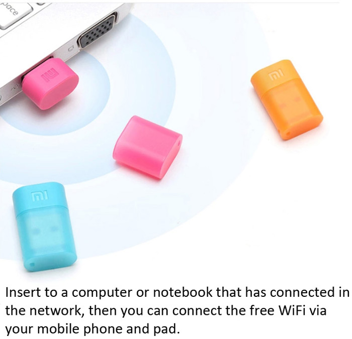 Original Xiaomi 150Mbps USB Powered Mini Portable Mi WiFi Adapter Router for Home Office Hotel- Black