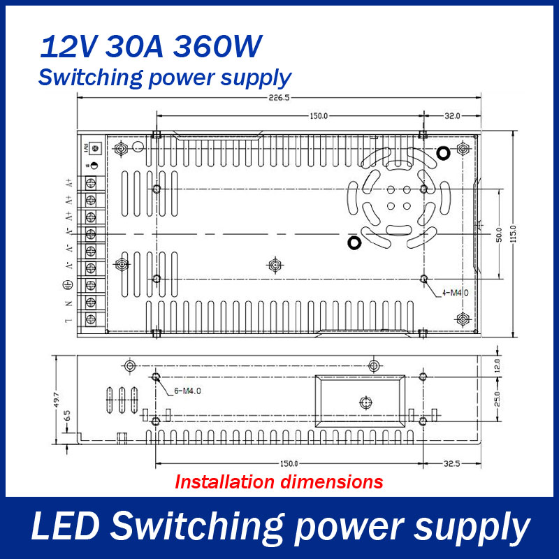 Dc 12v 30a 360w Switching Power Supply Driver For Led