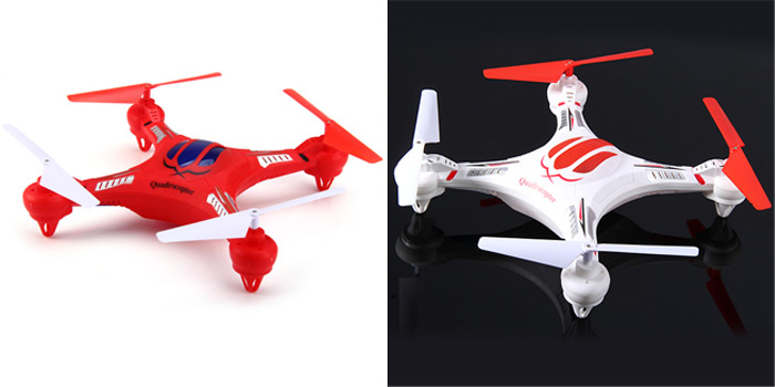 Hengjin HJ H15 6 Axis Gyro 2.4G 6CH RC Quadcopter with 360 Degree Eversion- White
