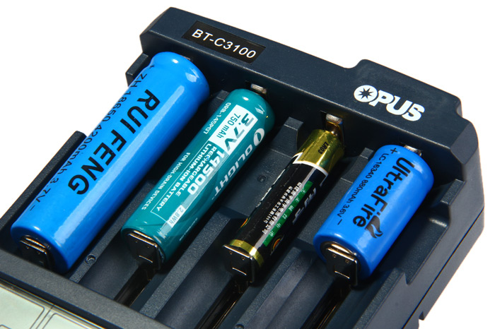 Opus BT - C3100 V2.2 Digital Intelligent 4 Slots LCD Battery Charger for Li-ion NiCd NiMh Batteries
