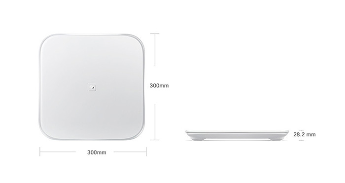 Original XiaoMi Bluetooth V4.0 Smart Weight Scale by 4 x AA Battery- White