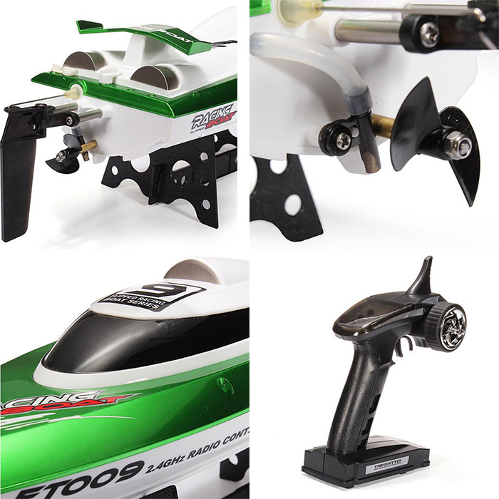 FeiLun FT009 2.4G RC Racing Boat High Speed Yacht- Green