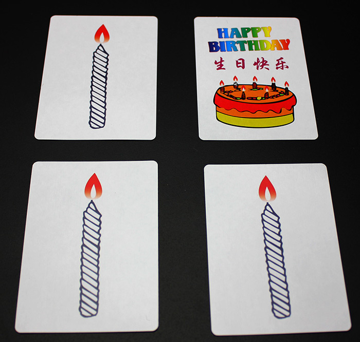 Birthday Cake Candle Cards Magic Effect There Are 4 Pieces Of Amazing Each Card Has An Unlitted On It