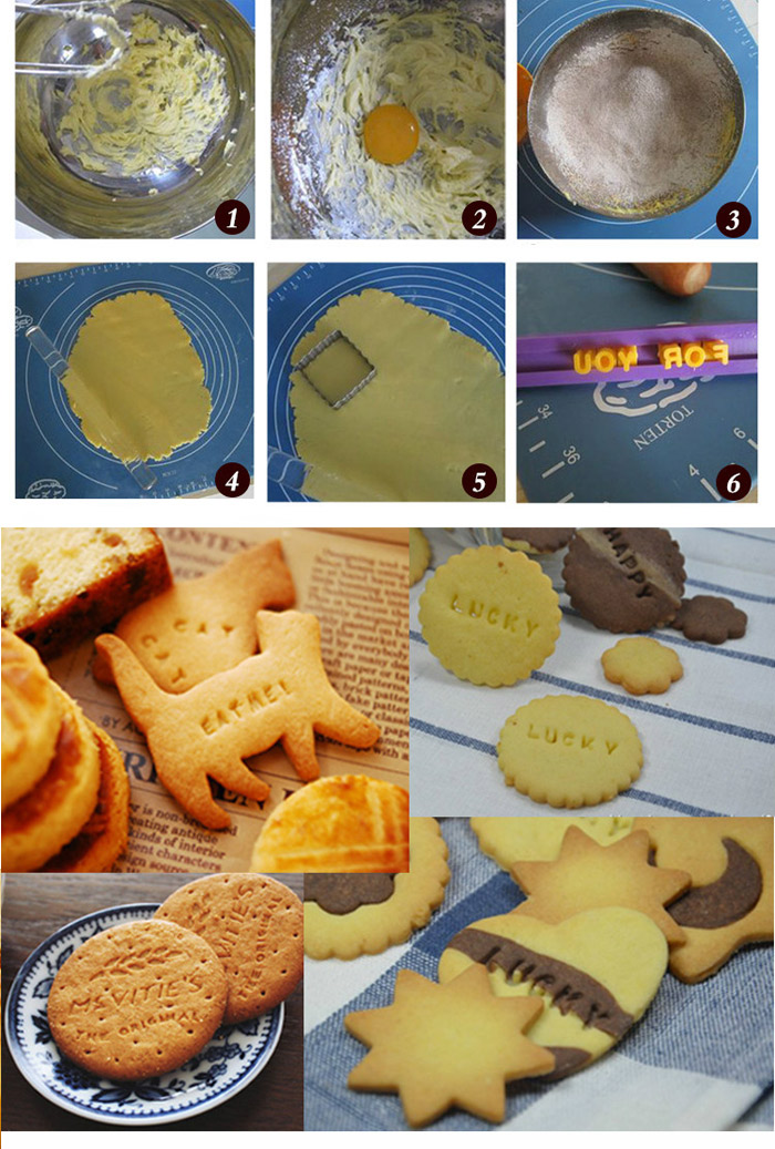 Creative Baking Letters and Numbers Printed Embossing Fondant Decoration Mould Cake Decorating Sugar Arts Mold- as the picture