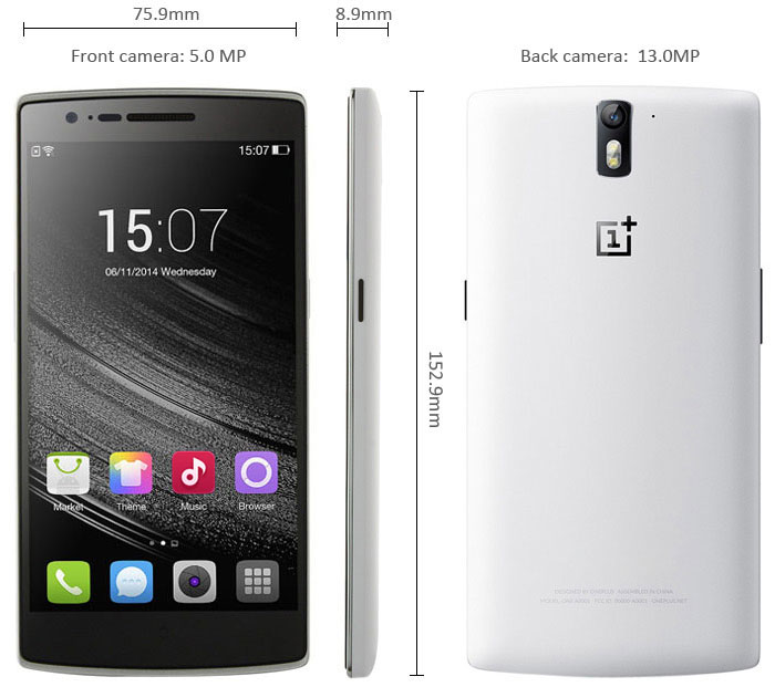 ONEPLUS ONE Color OS 5 5 inch 4G LTE Smartphone Snapdragon S801 Quad Core  2 5GHz FHD IPS Screen 3GB RAM 64GB ROM NFC