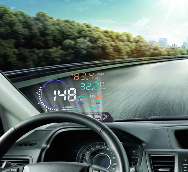 A8 5 5 Inch Obd Ii Car Hud Head Up Display Windscreen