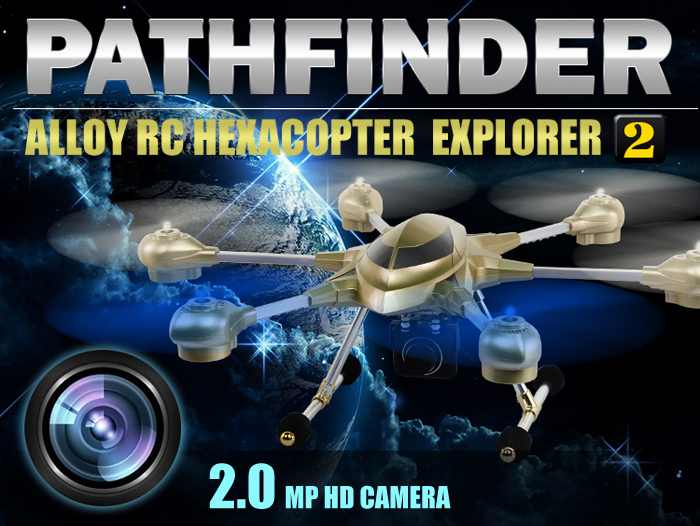 HUAJUN W609 - 7 5 8G FPV Pathfinder 2 6 Axis Gyro 4 5CH 2 4G RC Hexacopter  with 2 0MP HD Camera 3D Eversion Aircraft - US Plug