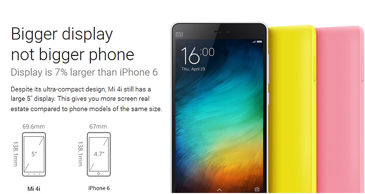 Xiaomi mi4i vs iphone 6
