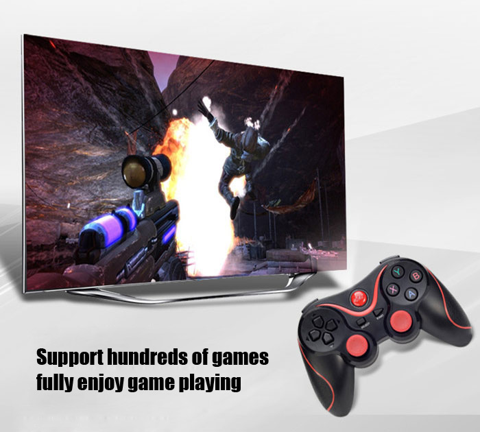 T3 Wireless Bluetooth 3.0 Gamepad Gaming Controller for Android System- Black