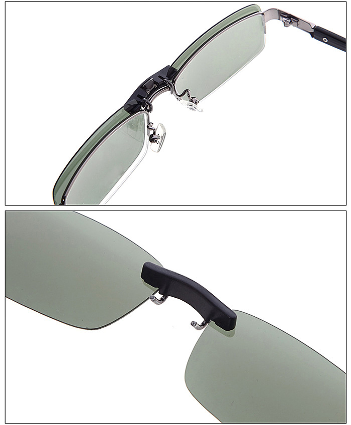 Men Women Night Use Polarized Lens Clip - on Driving Myopia ...