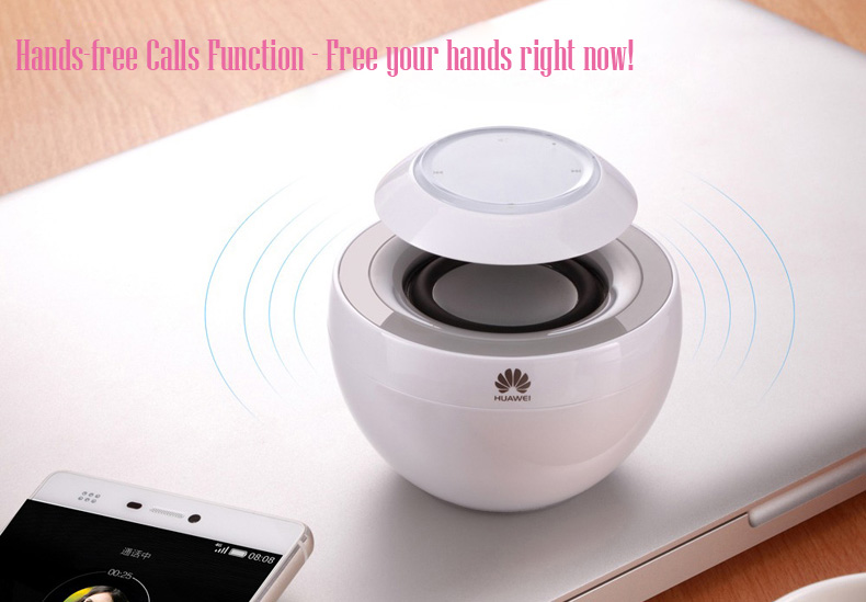 HUAWEI AM08 Little Swan Bluetooth Speaker BT4.0 CSR Hands-Free Touch Control for iPhone 6 Plus 6 5S 5 Samsung S6 Edge S6 HTC ONE M9 HUAWEI P8- White