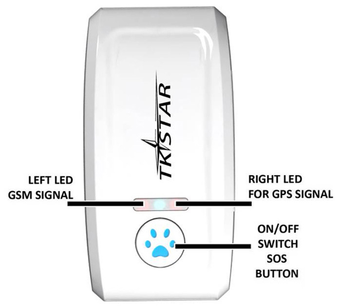 Dmdg Mini Waterproof Ipx6 Pet Gps Tracker Locator Ublox