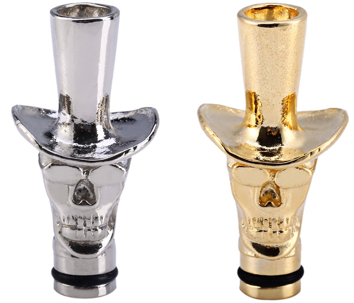 Metal Material E - Cigarette Mouthpiece Drip Tip with Cowboy Hat Shape