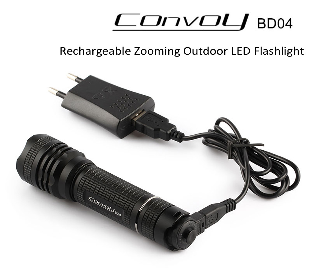 Convoy BD04 Cree XM L2 U2 - 1A 650Lm Waterproof Zoomable 18650 LED ...