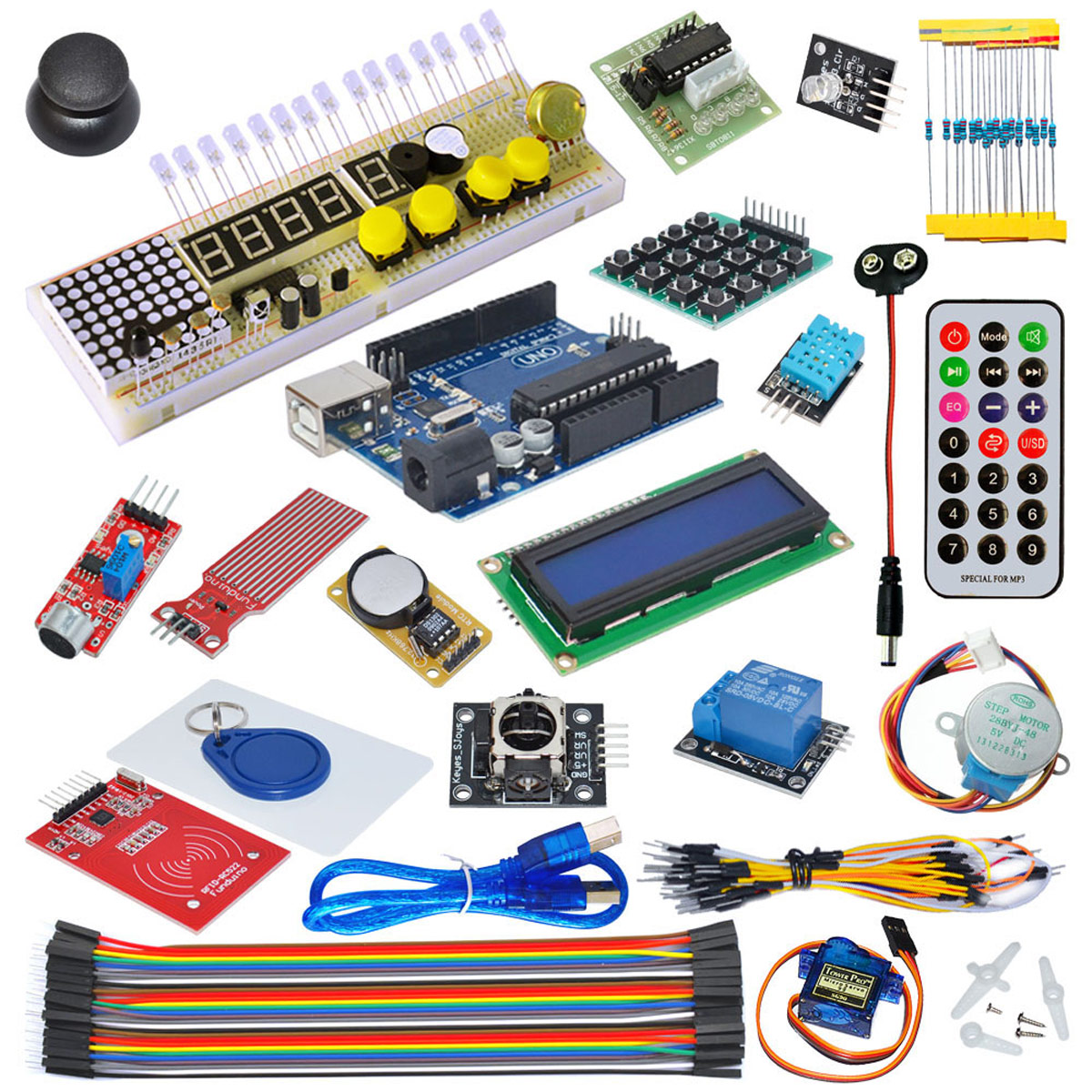 Gearbest Uk Kt002 Arduino Uno R3 Starter Kit 5468 Free Shipping 12v Stepper Motor Geared 4 Phase 5 Wires For Experiment Compatible Upgraded Version With Rfid Diy Network Learning