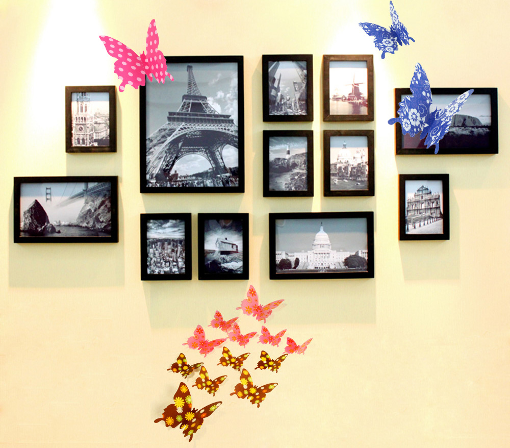 12pcs 3d diy butterfly wall sticker 0 66 online shopping 12pcs 3d butterfly stickers made of pvc durable and fadeless can be applied to all smooth surfaces like walls doors windows mirrors plastic metal